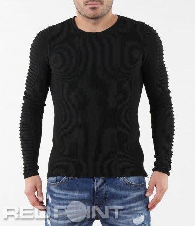 Интересен черен пуловер 5627
