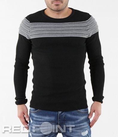 Черен пуловер 5629