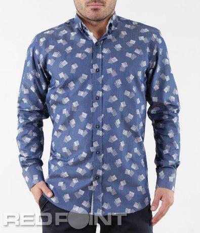 Свежа синя риза 5659