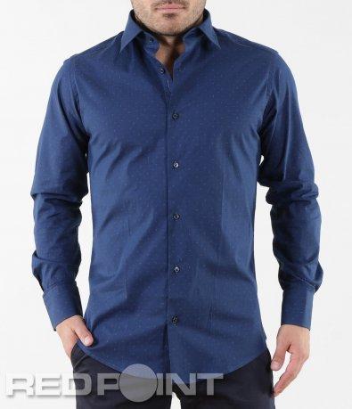 Елегантна синя риза 5663