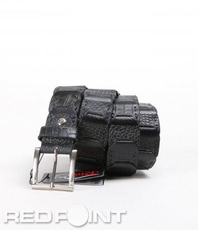 Черен кожен колан 5687