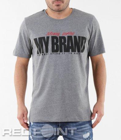 Тениска с къс ръкав и надписи 5677