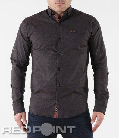 Елегантна мъжка риза с орнаменти 5706