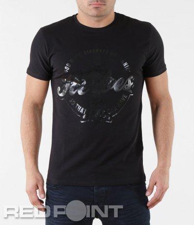 Черна тениска с апликация 5702