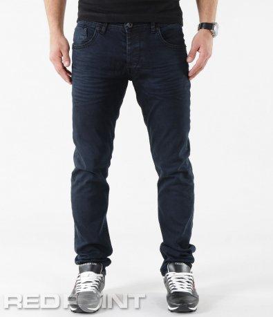 Тъмно сини дънки с намачкан ефект 5721