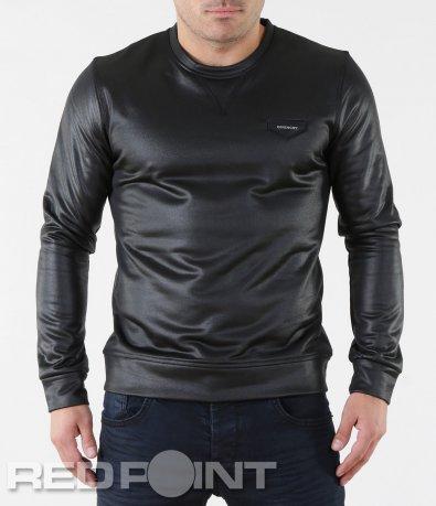 Черна блуза с промазан ефект 5730