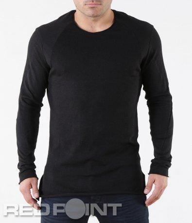 Черна  блуза с дълъг ръкав 5734