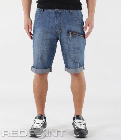 Къси дънкови панталони с ципове 5769