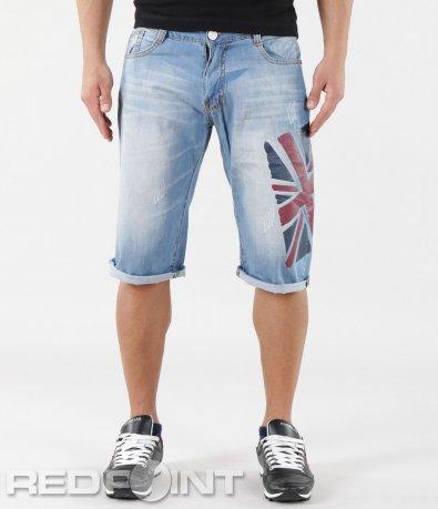Светли къси дънкови панталони 5767