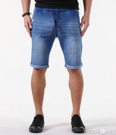 Къси памучни панталони с надписи 5863