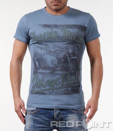 Памучна тениска с принт 5833