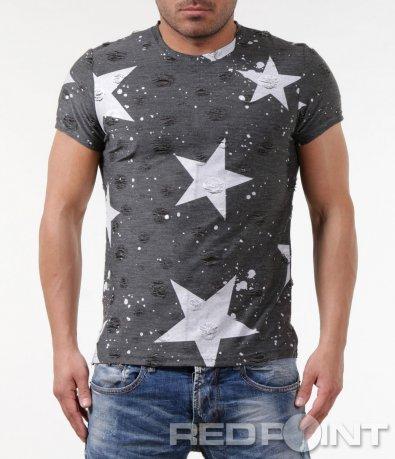 Интересна тениска с принт 5835