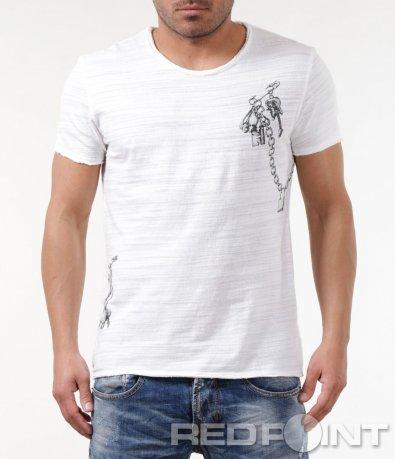 Свежа тениска с принт 5839