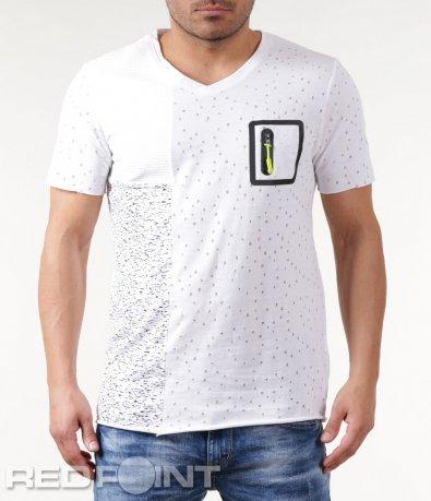 Авангардна тениска с джоб 5844