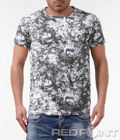 Бяла тениска с черепи 5858