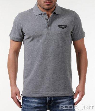 Спортно-елегантна тениска с яка 5775