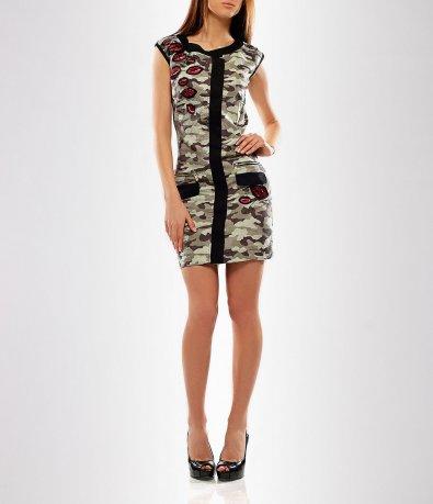 Дамска камуфлажна рокля-2791