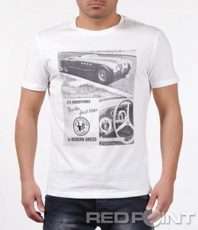 Интересна тениска с щампа 5907