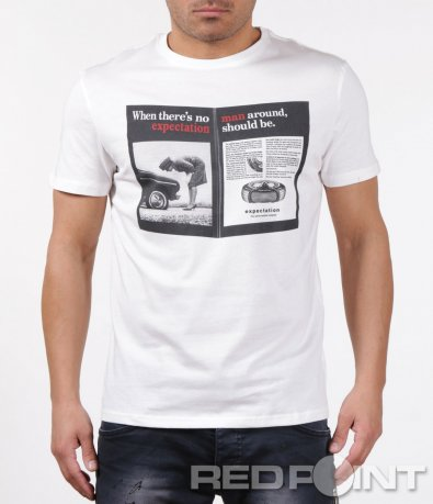 Свежа тениска с апликация 5912