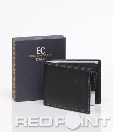 Черен портфейл от естесвена кожа 5917