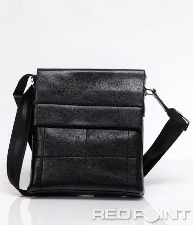 Чанта с ефектни шевове в черно 5929