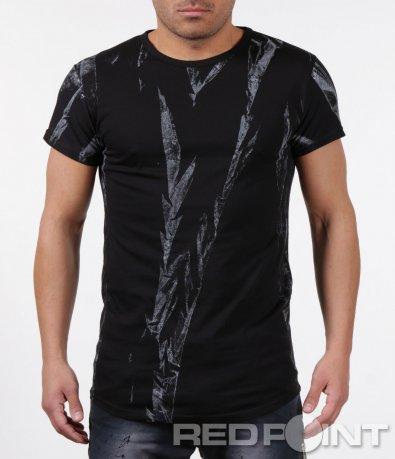 Тениска с имитация на отблясъци 5970