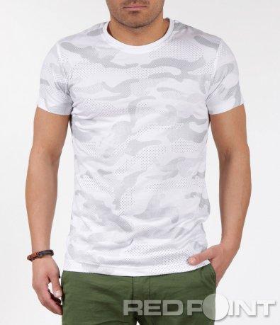 Бяла милитъри тениска 5990