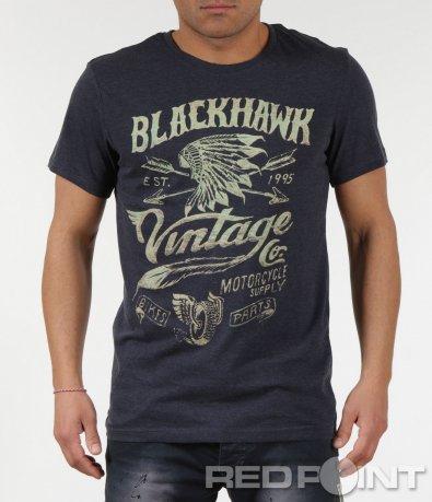 Атрактивна тениска с щампа и надписи 6001