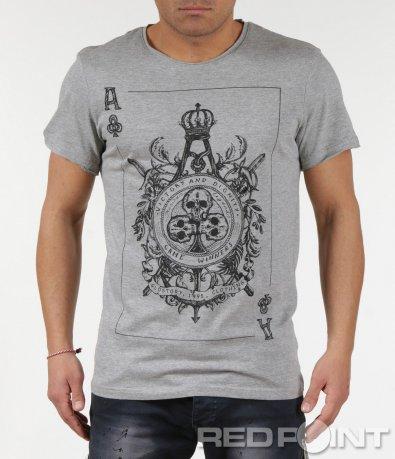 Тениска с ефектна апликация 6003