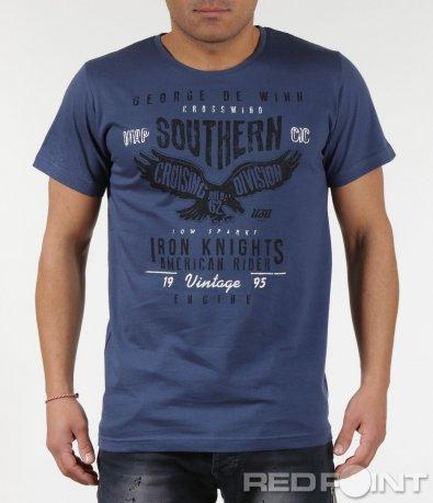 Ежедневна тениска с надписи 6004