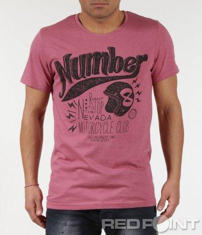 Класическа тениска с надпис Number 6006