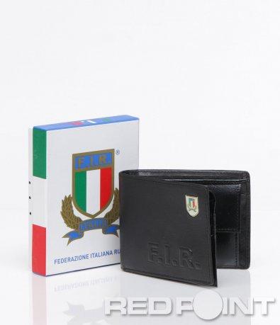 Черно портмоне със спортни инициали 6046