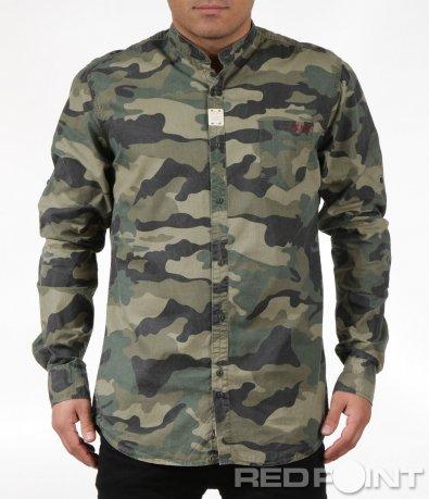 Ефектна риза в камуфлажен десен 6027