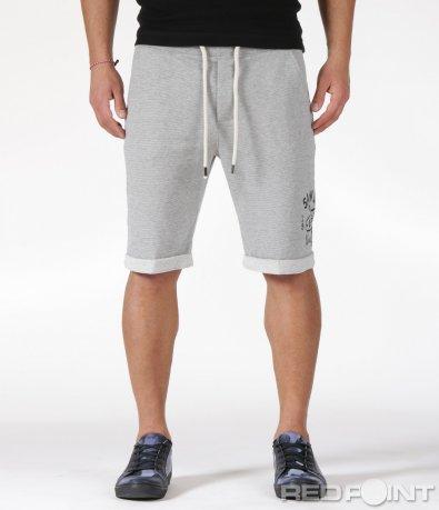 Памучни къси панталони на райе 6028