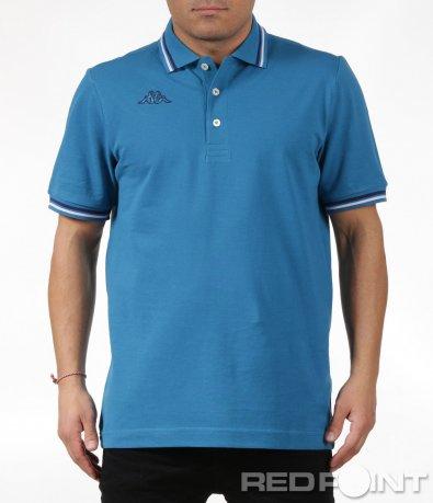 Семпла тениска с къс ръкав и яка Kappa 6032