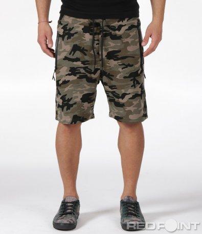 Къси панталони в камуфлажен десен 6056