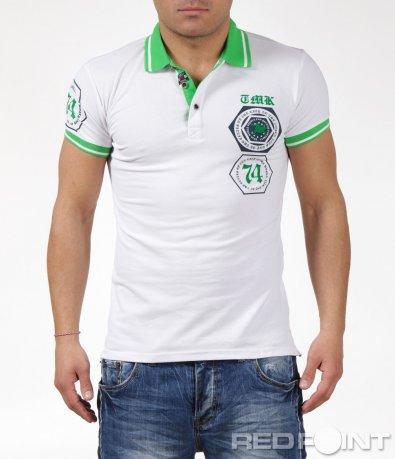 Поло тениска с надпис 6068