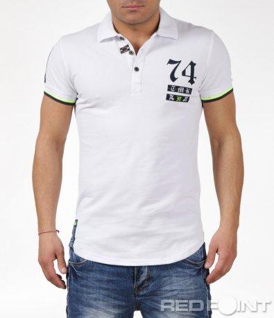 Поло тениска с надпис 6057