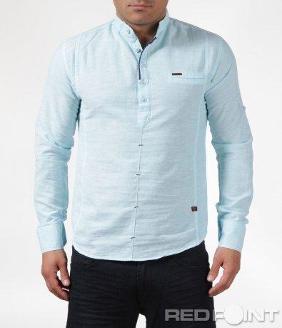 Спортно-елегантна риза в светъл цвят 6073