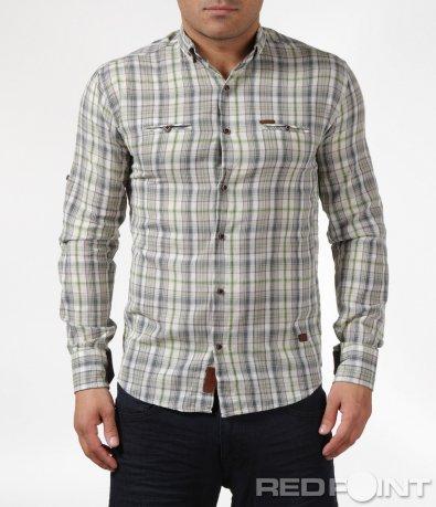 Атрактивна риза в семпло каре 6075