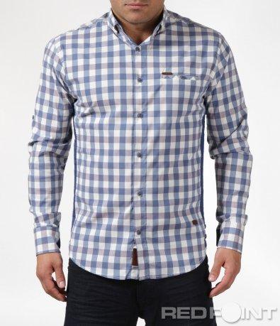 Карирана риза в свеж десен 6079
