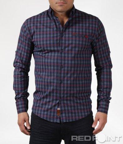 Риза в пъстро каре 6080