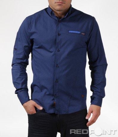 Спортно-елегантна синя риза 6081
