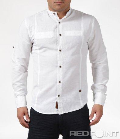 Изчистена риза с яка тип попска  6082