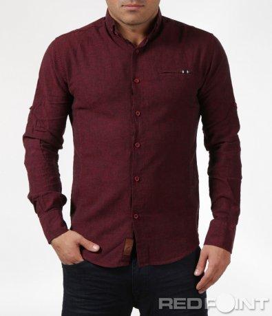Ефектна риза в бордо 6083