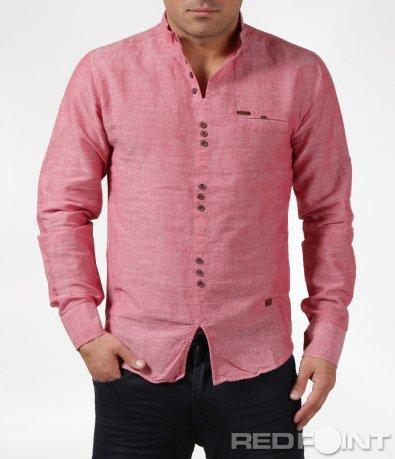 Пролетна риза с яка тип попска  6084