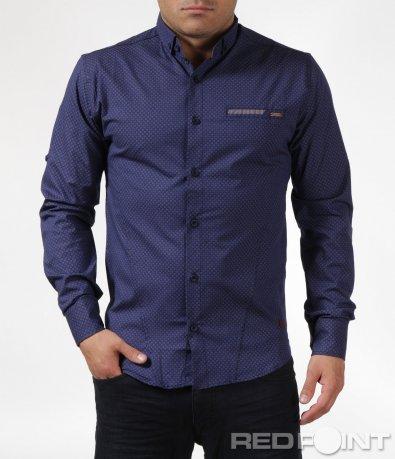 Спортно-елегантна риза с фигури 6093