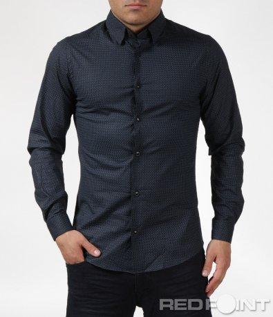 Тъмно синя риза Slim fit 6096