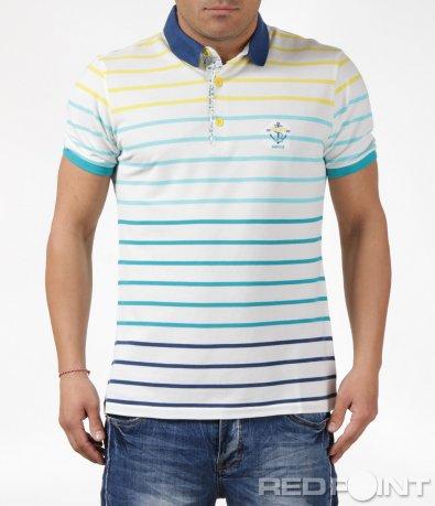 Поло тениска с пъстро райе 6098