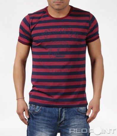 Спортно-елеганта тениска в бордо 6106